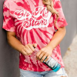 Oh My Stars Retro Graphic Tie Dye Tee PRE-ORDER | The Pink Lily Boutique