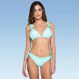Women's Triangle Top with Ties Bikini Top - Sugar Coast by Lolli Mint Green   Target