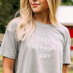 friday + saturday: chill the fourth out crop t shirt | RIFFRAFF