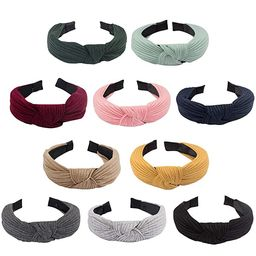 Jaciya 10 Pieces Knotted Headbands for Women Solid Headbands for Women Wide Headbands for Women K...   Amazon (US)