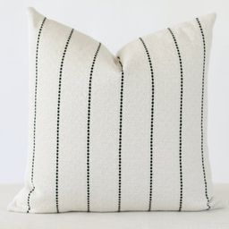 White and Black Stripe Pillow Cover, White Pillow Cover with Black Stripes, Black and White Pillo...   Etsy (CAD)