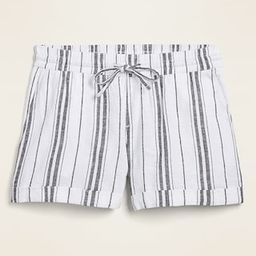 Mid-Rise Linen-Blend Shorts for Women - 4-inch inseam   Old Navy (US)