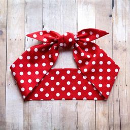 Red polka dots headscarf, We can do it hair scarf, Pin up Rockabilly, Halloween Rosie the Riveter... | Etsy (US)