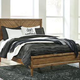 Broshtan Queen Panel Bed with Mirrored Dresser   Ashley Homestore