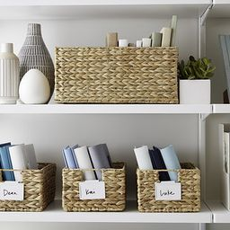 Water Hyacinth Storage Bins with Handles | The Container Store