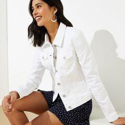 Denim Jacket in White | LOFT | LOFT