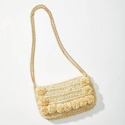 Pom Pom Straw Crossbody Bag | LOFT | LOFT