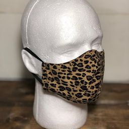 Face Mask 100% Cotton Leopard Print ADULT/TEEN SIZE   Etsy (US)