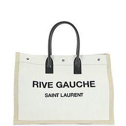 Rive Gauche Linen Tote   Saks Fifth Avenue