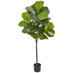 """Nearly Natural 54"""" Fiddle Leaf Artificial Tree (Real Touch)   Walmart (US)"""
