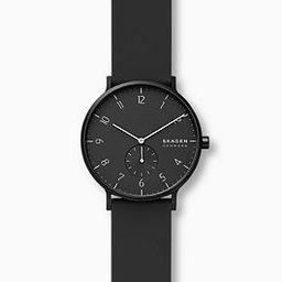 Aaren Kulor Black Silicone 41mm Watch | Skagen