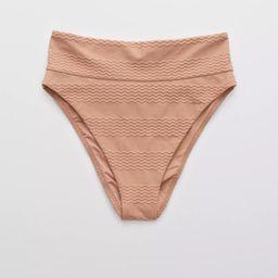Aerie Jacquard High Cut Cheeky Bikini Bottom | American Eagle Outfitters (US & CA)