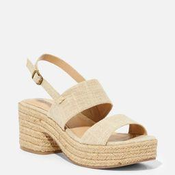 Leah Platform Heeled Sandal   JustFab