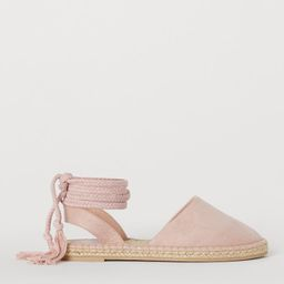 Espadrilles with tie cord   H&M (UK, IE, MY, IN, SG, PH, TW, HK, KR)