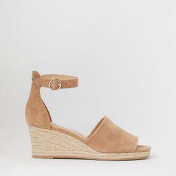 Suede wedge-heel sandals   H&M (UK, IE, MY, IN, SG, PH, TW, HK, KR)