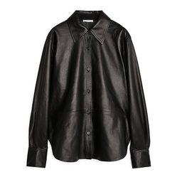 Leather Shirt   ARKET