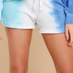 Cool Moves Blue Multi Tie Dye Shorts | Red Dress