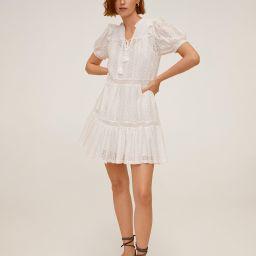Openwork cotton dress | MANGO (US)