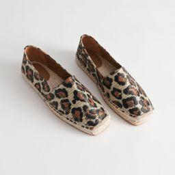 Square Toe Leopard Espadrilles | & Other Stories