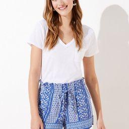 Paisley Paper Bag Shorts | LOFT