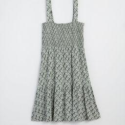Floral Smocked Tiered Flare Dress | LOFT