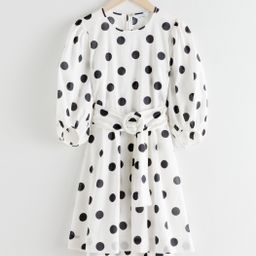 Belted Polka Dot Mini Dress | & Other Stories
