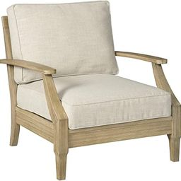 Signature Design by Ashley - Clare View Outdoor Lounge Chair with Cushion - Eucalyptus Frame - Be... | Amazon (US)