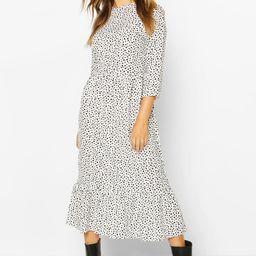 Woven Mixed Spot Dress | Boohoo.com (UK & IE)