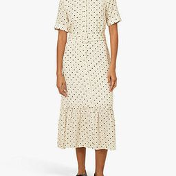 Warehouse Polka Dot Shirt Dress, Neutral Print | John Lewis UK