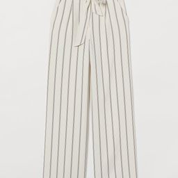 Wide tie-belt trousers   H&M (UK, IE, MY, IN, SG, PH, TW, HK)