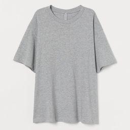 Wide cotton T-shirt   H&M (UK, IE, MY, IN, SG, PH, TW, HK)