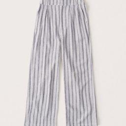 Women's Linen-Blend Pleated Wide Leg Pants   Women's Bottoms   Abercrombie.com   Abercrombie & Fitch (UK)