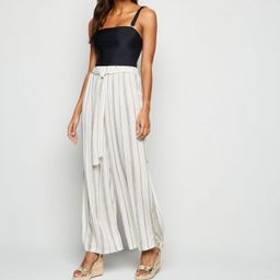 White Stripe Belted Beach Trousers  Add to Saved Items Remove from Saved Items ...   New Look (UK)