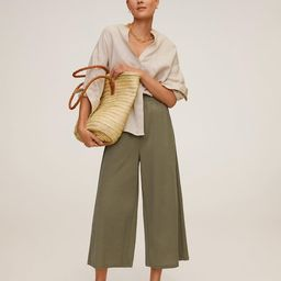 Fluid culotte trouser | MANGO (UK)