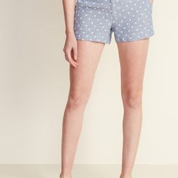 Mid-Rise Everyday Linen-Blend Shorts for Women - 3.5-inch inseam | Old Navy (US)