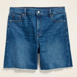 High-Waisted Relaxed Cut-Off Jean Shorts for Women -- 7-inch inseam | Old Navy (US)