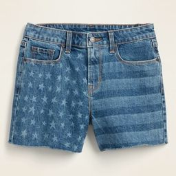 High-Waisted Americana Cut-Off Jean Shorts for Women -- 3.5-inch inseam | Old Navy (US)