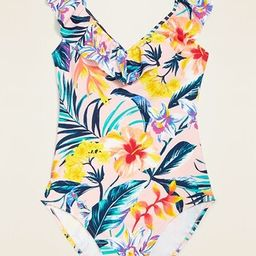 Ruffled Off-the-Shoulder One-Piece Swimsuit for Women   Old Navy (US)