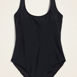 Scoop-Neck One-Piece Swimsuit for Women   Old Navy (US)