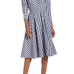 Stripe Midi Shirtdress | Nordstrom
