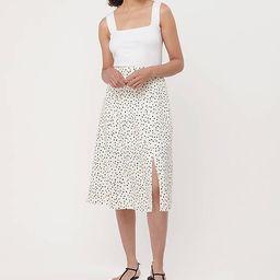 Dotted Midi Skirt | LOFT | LOFT