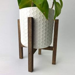 Reclaimed Wood Mid-Century Style Plant Stand   Etsy (CAD)