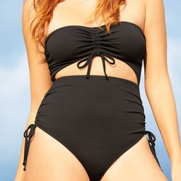 Aerie Ribbed Cut Out One Piece Swimsuit | American Eagle Outfitters (US & CA)