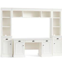 "Aubrey 6-Piece Office Suite, Dutch White, 108"" Wide | Pottery Barn (US)"