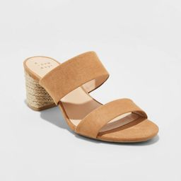 Women's Patricia Espadrille Block Heeled Pumps - A New Day™ | Target