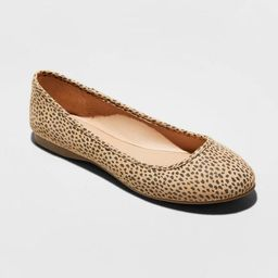 Women's Everly Faux Leather Round Toe Ballet Flats - Universal Thread™ | Target