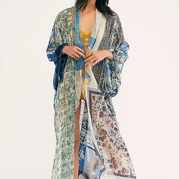 Leonora Kimono by Free People, Indigo Combo, One Size   Free People (US)