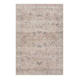 "Loloi II Printed Hathaway Blush Ivory Area Rug, 7'6""x9'6"" | Houzz (US)"