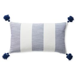Beach Stripe Pillow Cover   Serena and Lily
