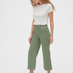 High Rise Wide-Leg Crop Khakis | Gap® UK | Gap (UK & EU)
